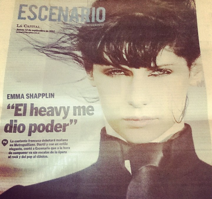 Diario La Capital: entrevista a Emma Shapplin
